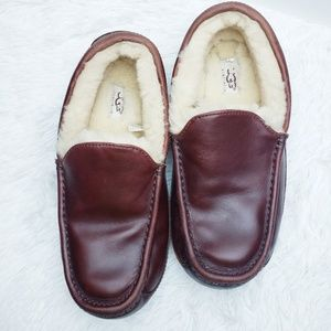 UGG Shoes - UGG Ascot Cordovan Leather Slip On